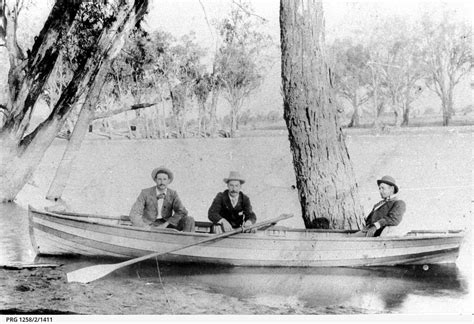 party boat mildura boating party in rowboat near mildura photograph state