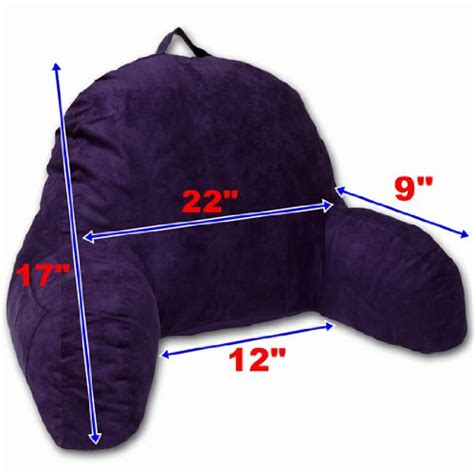 purple bed rest pillow microsuede bedrest pillow purple best bed rest pillows