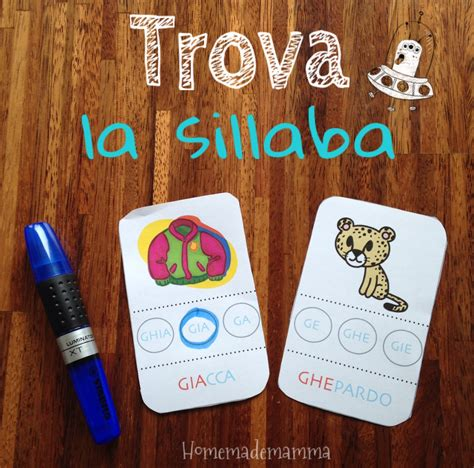 formare parole con delle lettere le sillabe e le parole