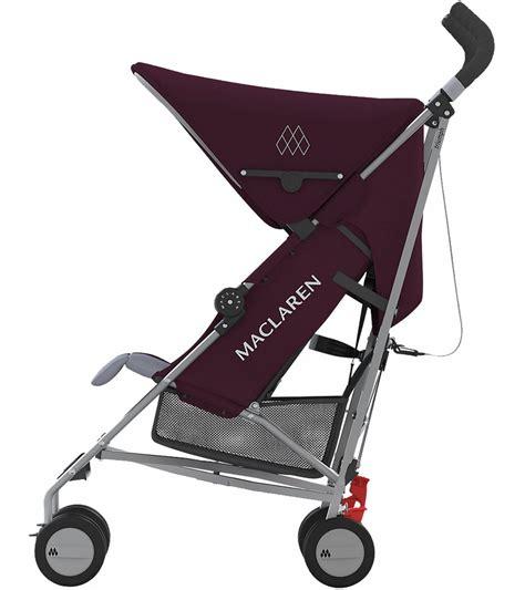 Maclaren Triumph Recline by Maclaren 2016 Triumph Stroller Plum Grey
