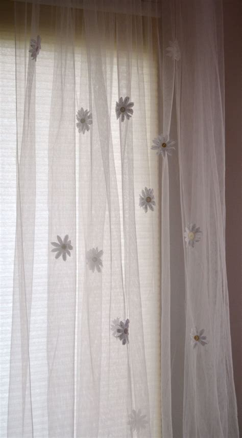 curtain embellishments fabric flowers cut with silhouette 174 create and babble