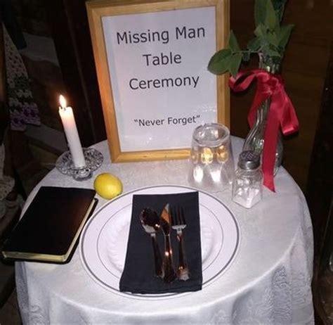 Missing Man Table Script Pow Mia Missing Man Table Ann M Wolf