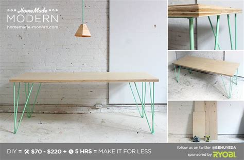 diy modern table legs modern diy the easy hairpin leg table or with