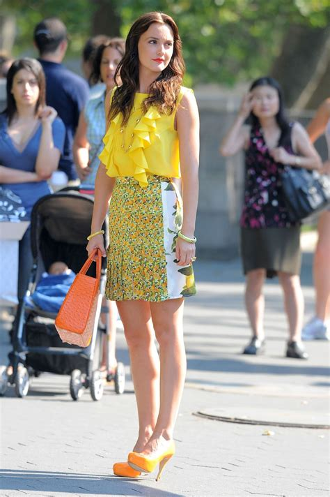 Girlset Kp Yellow Style being glamorous leighton meester gossip set in nyc
