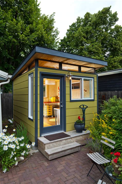 build backyard office modern shed home office modern shed portland by