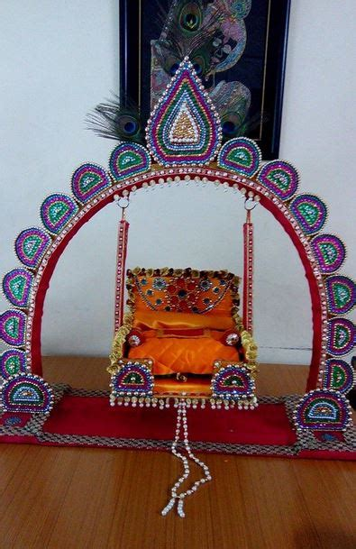 Janmashtami Home Decoration by Janmashtami Jhula Decoration Ideas Indian Festival Decor