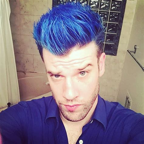 boy color with blue blue hair blue shirt but feeling amazing i you
