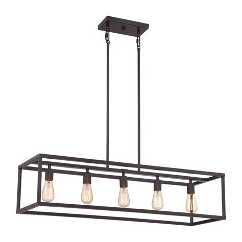 Bronze Kitchen Island Hanging Pendant With 5 Vintage Bulbs Hanging Kitchen Lights Island