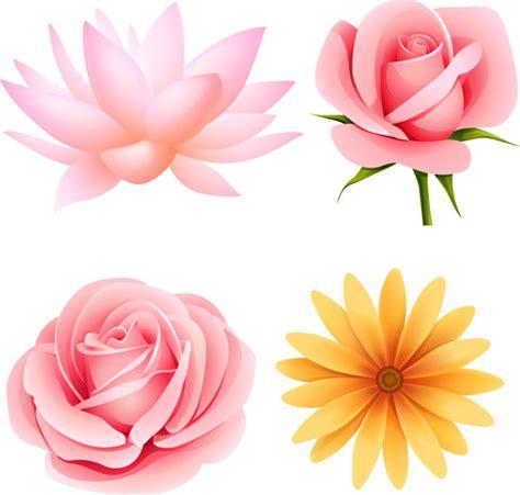 imagenes flores vectorizadas hermosas flores peque 241 as de material de vectores 4