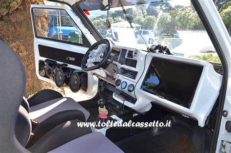 accessori interni auto tuning tuning fiat panda 1000 cruscotto con terminale