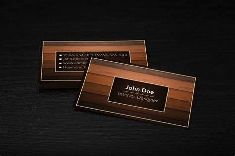 interior design business cards templates free card