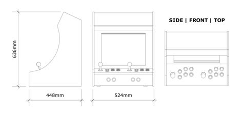 bar top arcade cabinet plans kademaster666