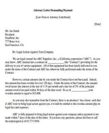 Demand Letter To Pay Demand Letter Exles