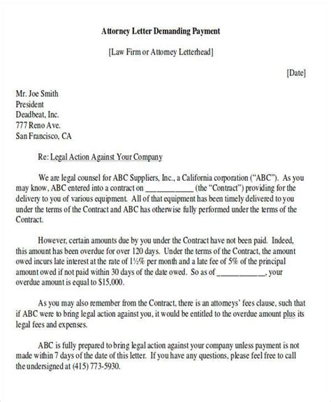 Demand Letter Sol attorney demand letter breach of contract docoments ojazlink