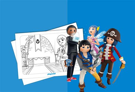 doodlebug español dibujos para colorear de playmobil barrakuda info