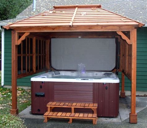 pergola tub tub gazebo tub pavilions forever redwood home tub gazebo