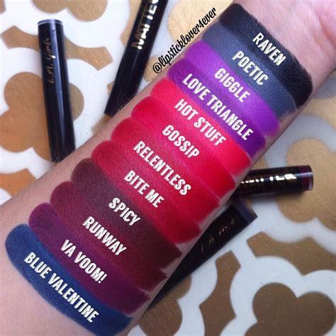 La Matte Velvet Runway la matte flat velvet lipstick swatches by