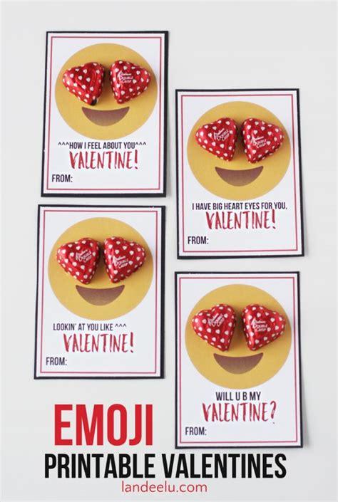 valentines for classmates emoji printable valentines landeelu