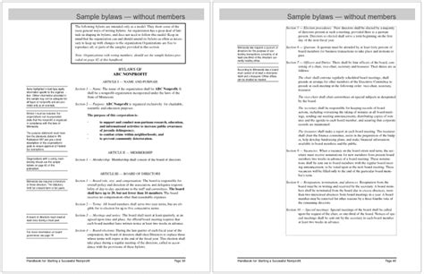 5 Executive Summary Templates For Word Pdf And Ppt Bylaws Template Word