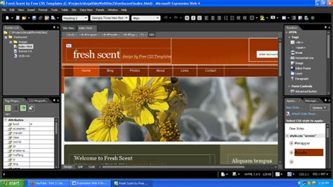 Microsoft Expression Web Templates Free by Expression Web 4 Importing A Css Template