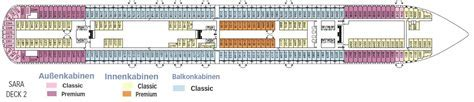 Aktueller Deckplan der Costa Diadema