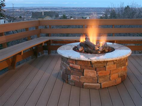 Concrete Gas Fire Pit Fire Pit Design Ideas Gas Firepit