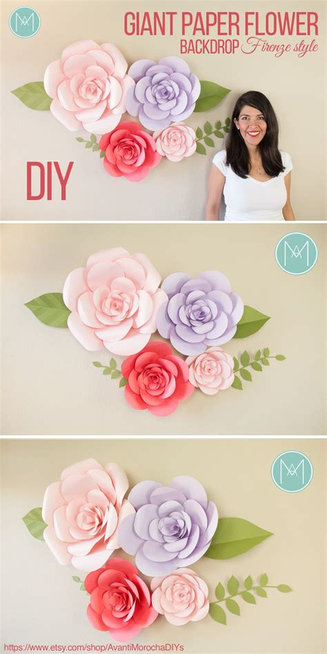 by avantimorochadiys etsycom diy giant paper flower backdrop quot firenze style quot flori de