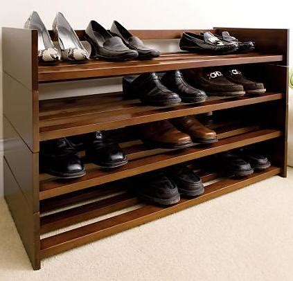 Closet Shoe Shelves Wood by Closet Organizing Helpers Mahogany Shoe Racks For 99