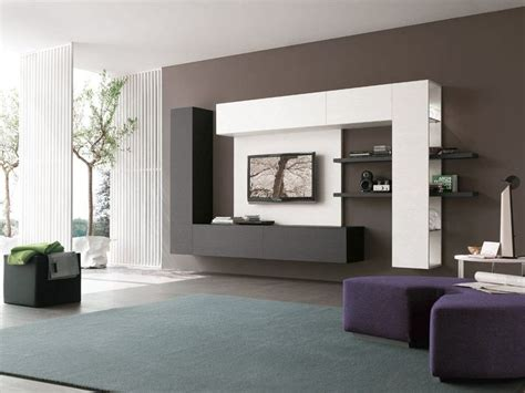impressive contemporary tv wall unit designs   living room top inspirations
