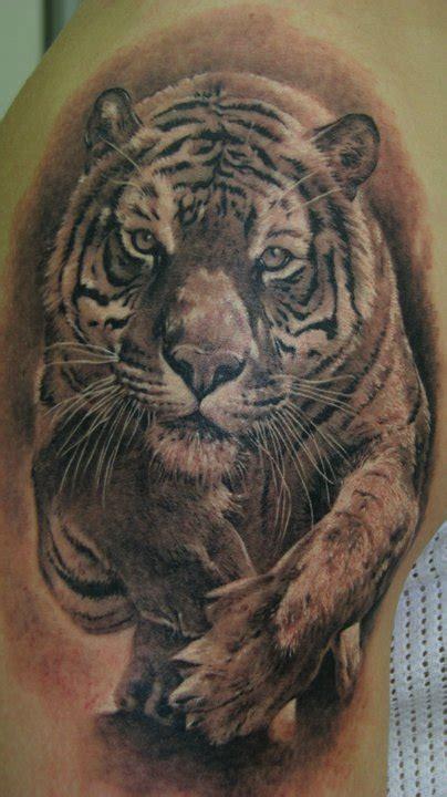 Animal Tattoo On Head | tiger animal head tattoo on shoulder tattooshunt com