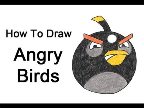 how to draw angry birds black bird youtube
