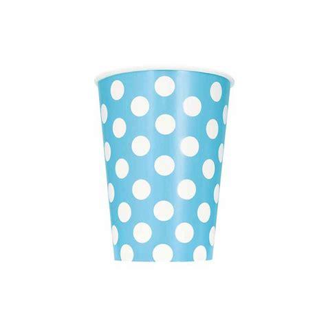 bicchieri carta bicchieri azzurro a pois