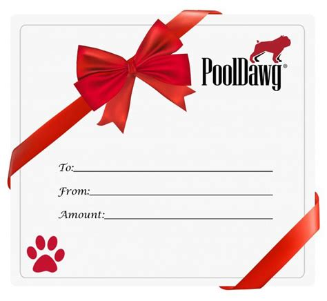 Gift Card Pool - pool cue gift card gift certificate for pool and billiard supplies pooldawg com