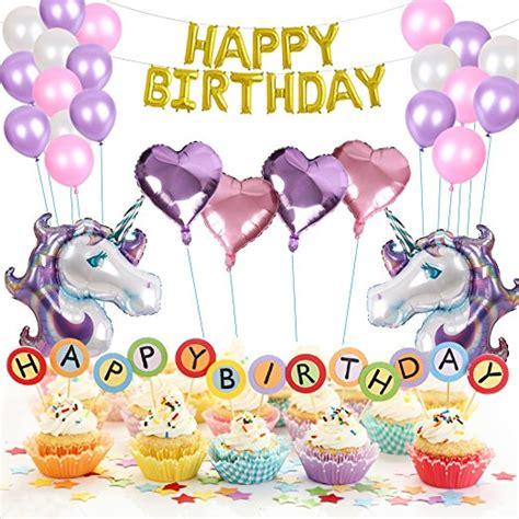 set balon pesta ulang  unicorn multi color