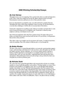 Scholarship Essay Exles by Winning Scholarship Essays Essay For Scholarship Our Work Ayucar