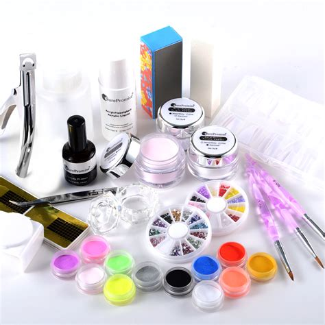 Acrylic Nail Professional Kit Set Powder Tips