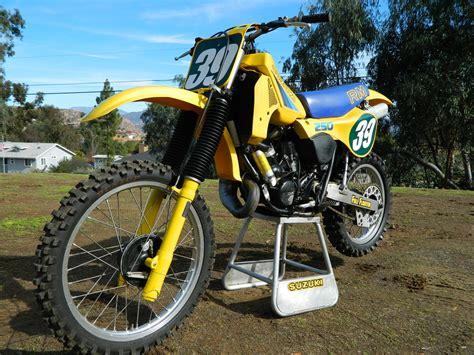 Vintage Suzuki Rm Parts 1983 Suzuki Rm250 Vintage Motocross 83 Rm 250 Rm250d Ahrma