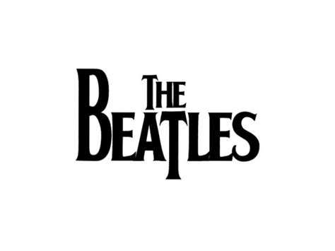 The Beatles Black Logo the gallery for gt the beatles black and white logo