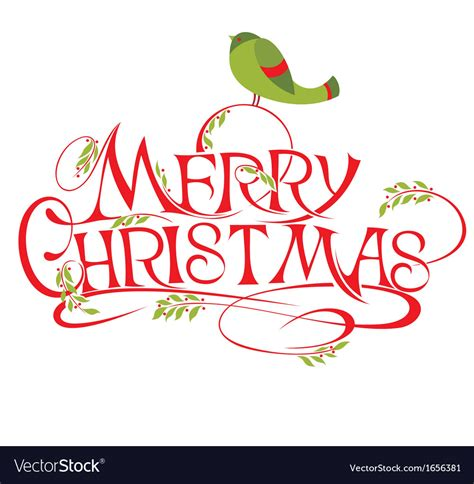 merry christmas lettering royalty  vector image
