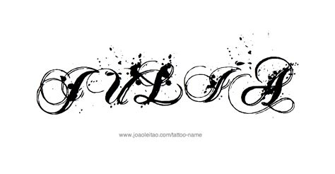 tattoo name julia julia name tattoo designs