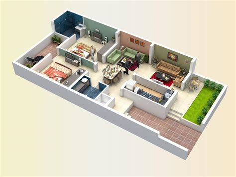 home design 3d 2bhk top view of 2bhk house gharexpert
