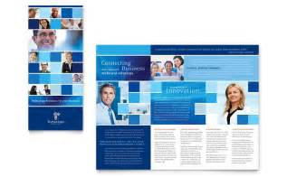 technology consulting amp it tri fold brochure template