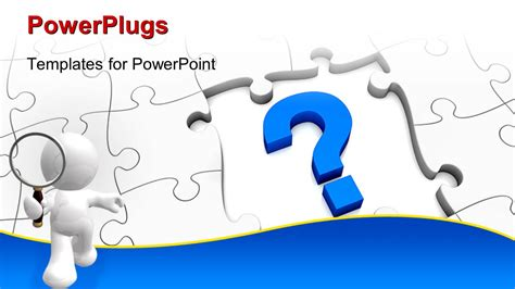 powerpoint template piece of puzzle missing problem and powerpoint template jigsaw puzzle with a question mark
