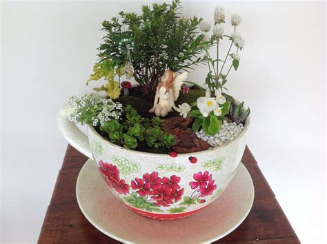 Miniature Planters by Garden In A Teacup Planter Mini Gardening