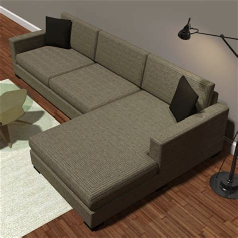 room and board metro sofa metro sofa 3d model formfonts 3d models textures