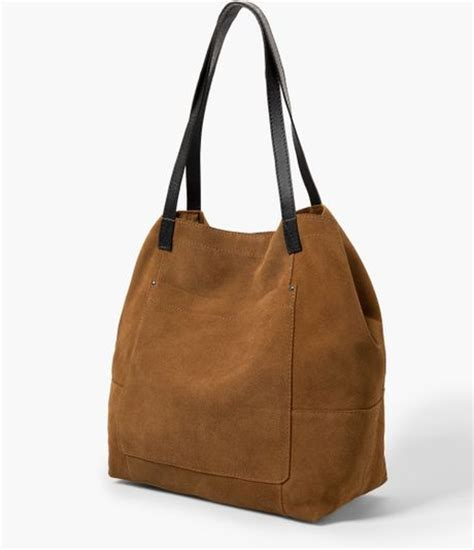 Mangos Regueton Oversized Bag by Mango Suede Shopper Bag In Brown Leather Lyst
