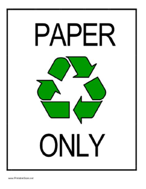 How To Make Money Recycling Paper - printable recycle paper sign