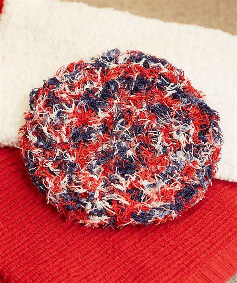 pattern red heart swirl scrubby red heart