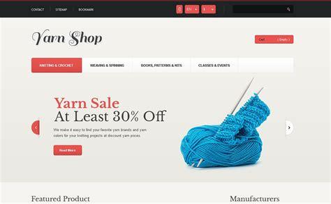 Responsive Yarn Shop Prestashop Theme 44497 Yarn Website Template
