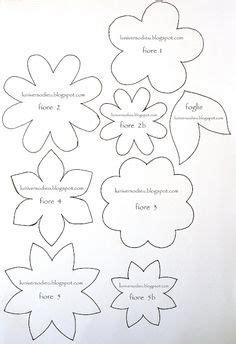 felt paper flower pattern different flower patterns maybe for making flower pins